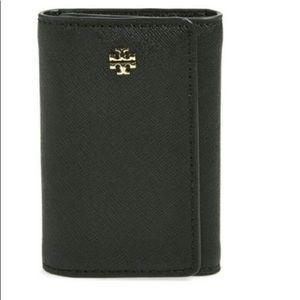Tory Burch YORK Key Case, Black Leather. NWT